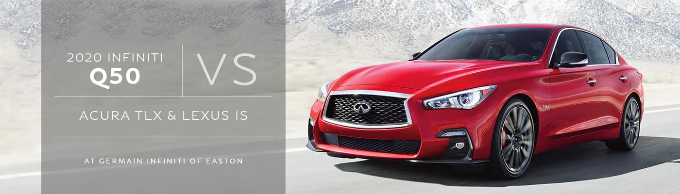 INFINITI Q50 vs Acura TLX vs Lexus IS at Germain INFINITI of Easton