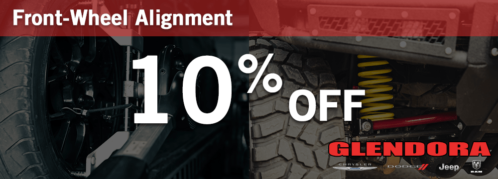10% Off Front Wheel Alignment Service Special