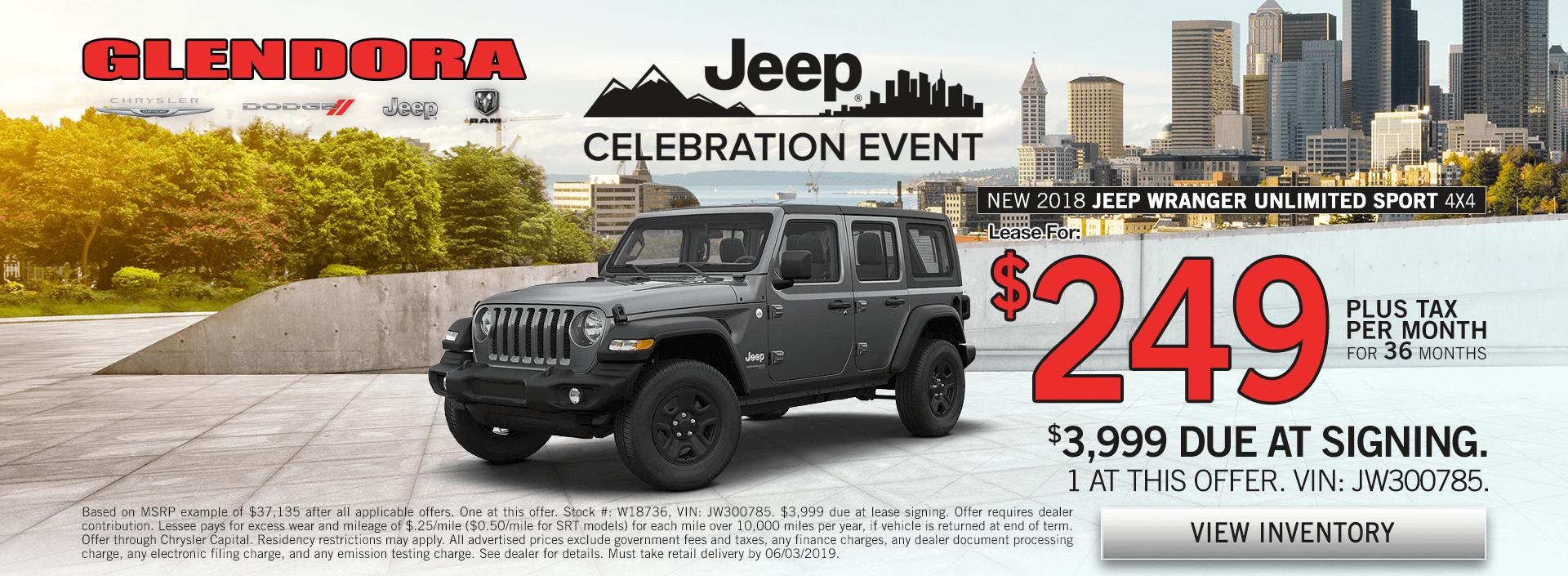 Jeep Wrangler Special Offer Deals