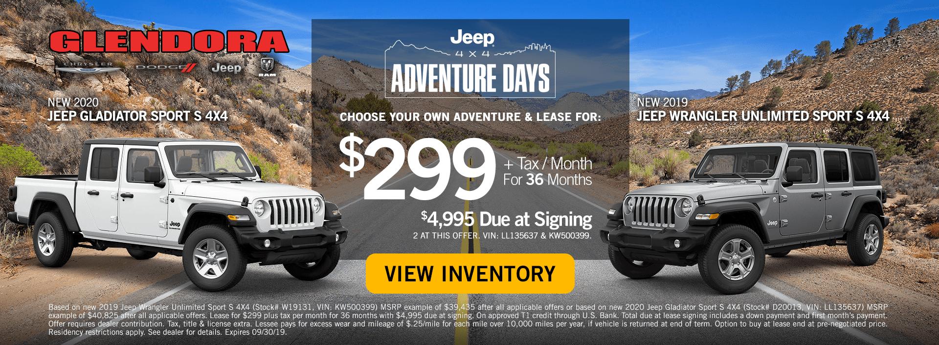 Jeep Adventure Days Special Jeep Gladiator vs Wrangler