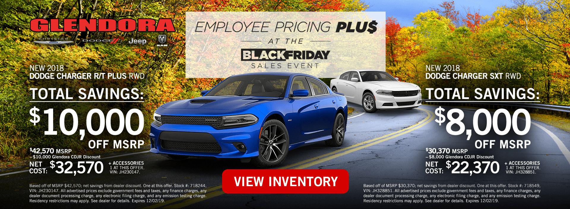 Black Friday - Dodge Charger Deals