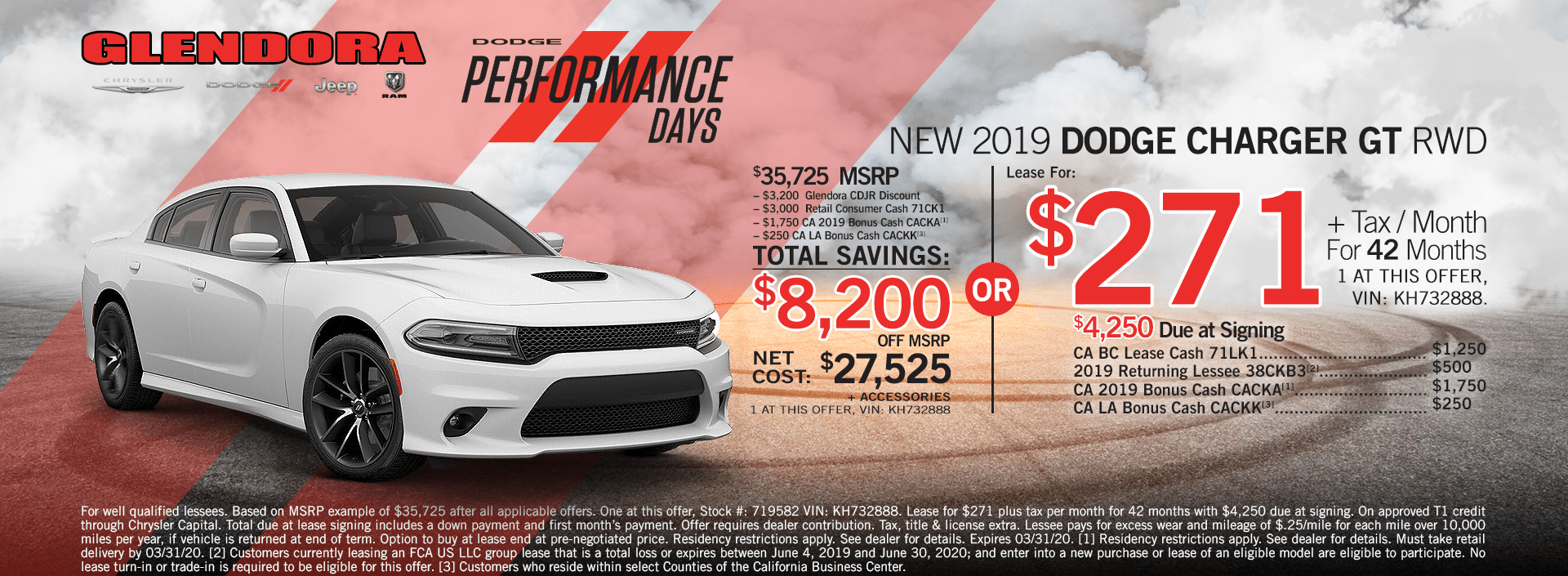 Dodge Charger Lease Special and Purchase Deal