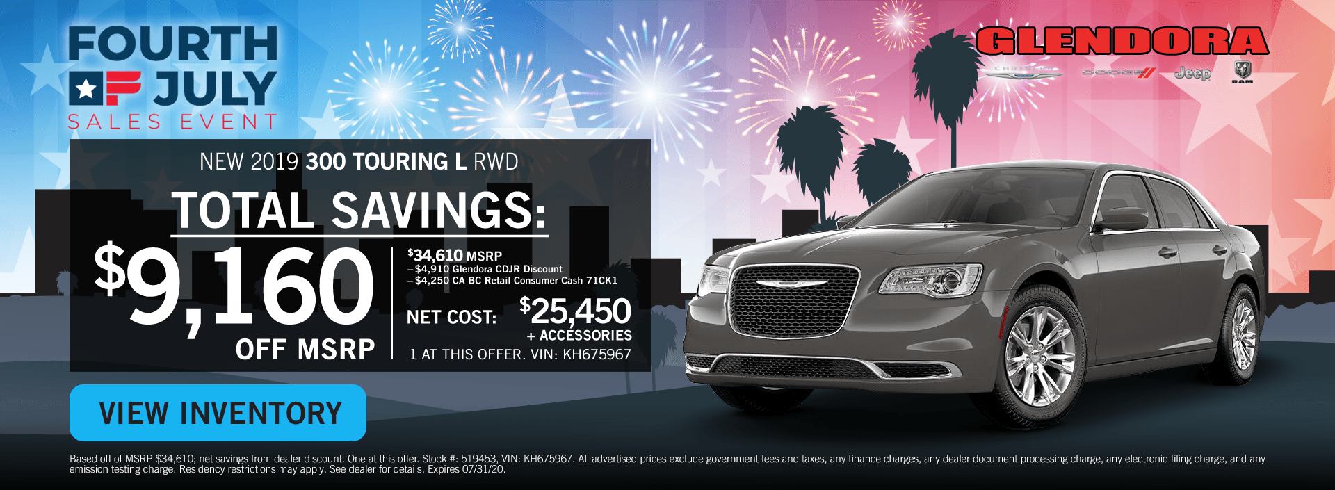 4th of July Sales Chrysler Deals