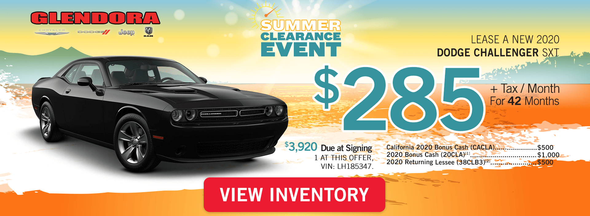 Dodge Challenger Lease Special