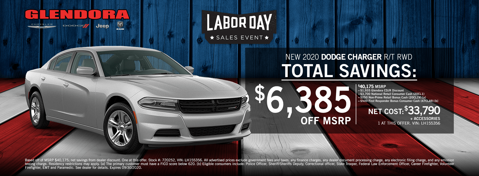 Dodge Charger Labor Day Sales Event Special