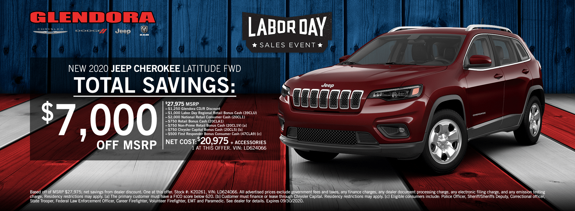 Jeep Cherokee Labor Day Sales Event Special