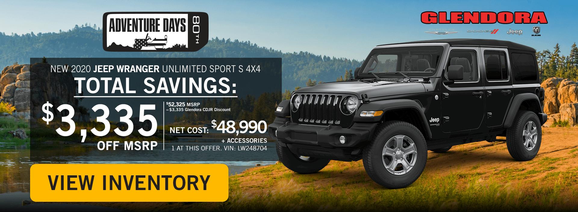 Glendora_CDJR_2020_October_Deals_Jeep_Adventure_Jeep_Wrangler_Home1