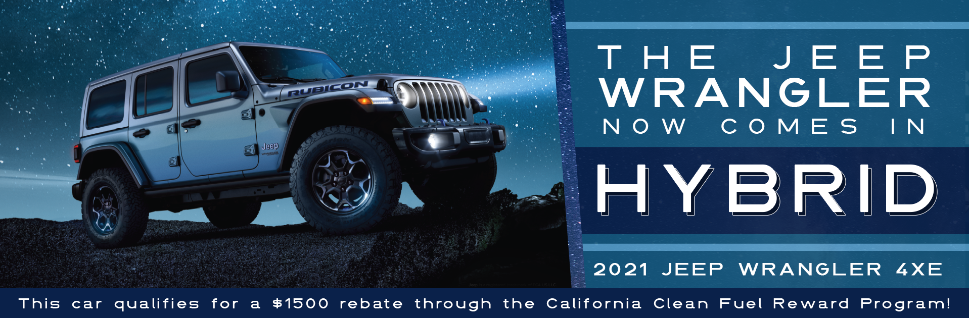 California Clean Fuel Reward Jeep Wrangler 4xe