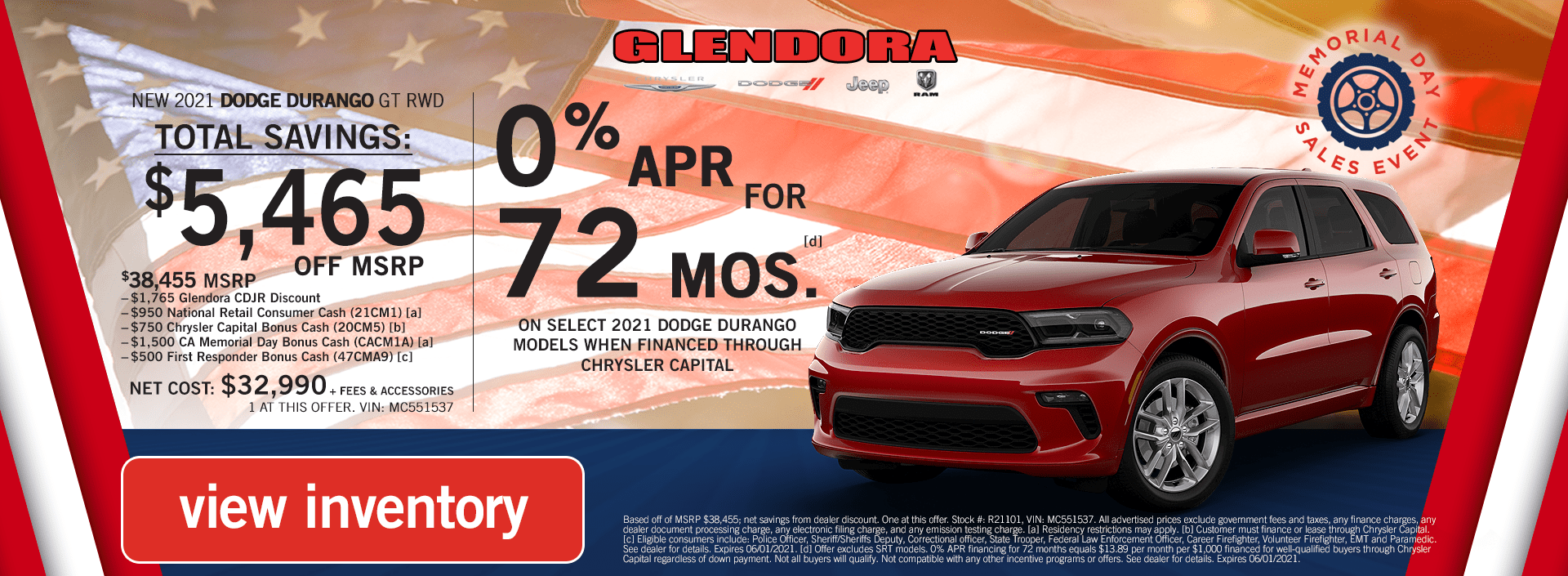 Dodge Durango Deals Memorial Day Sales Event