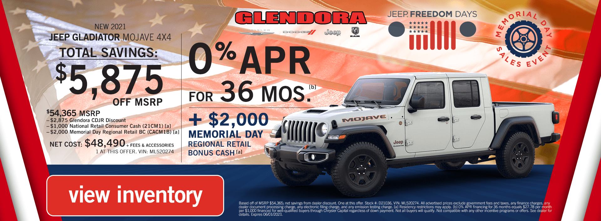 Jeep Gladiator Deals Memorial Day Sales Event