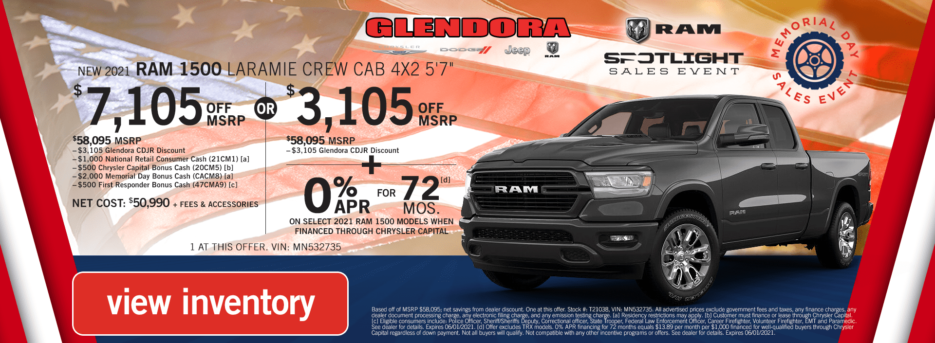 Ram 1500 Deals Memorial Day Sales Event