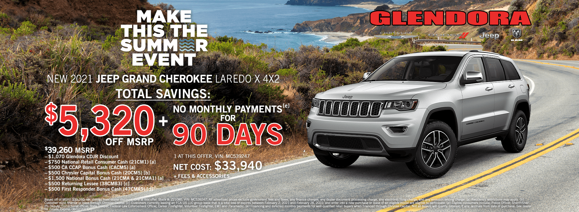 July 2021 Jeep Grand Cherokee Special