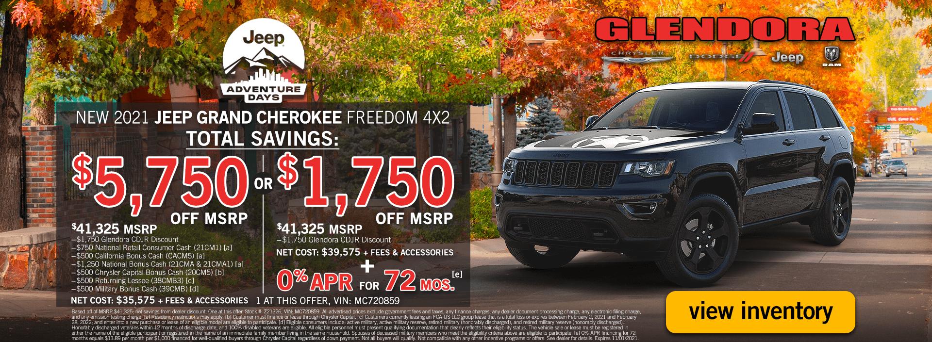 Jeep Adventure Days Jeep Grand Cherokee Specials Deals