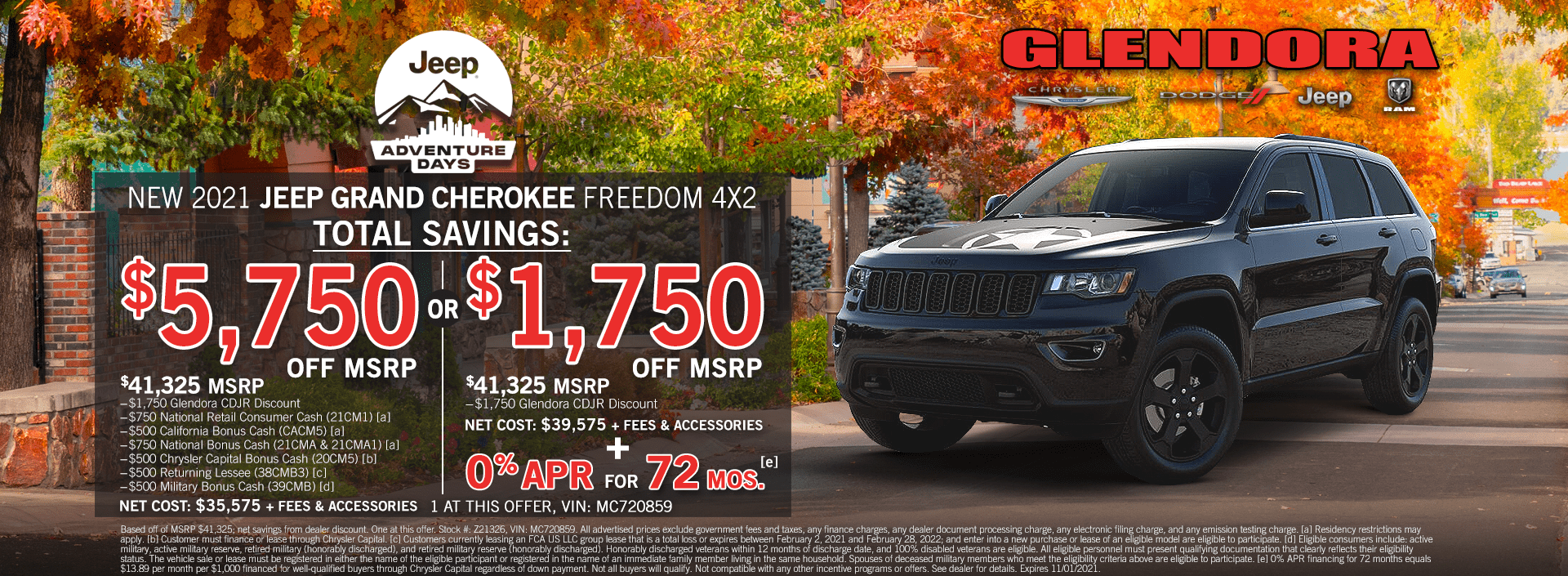 Jeep Grand Cherokee in Stock Specials