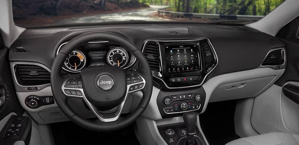 2019 jeep cherokee interior features cherokee cargo space 2019 jeep cherokee interior features