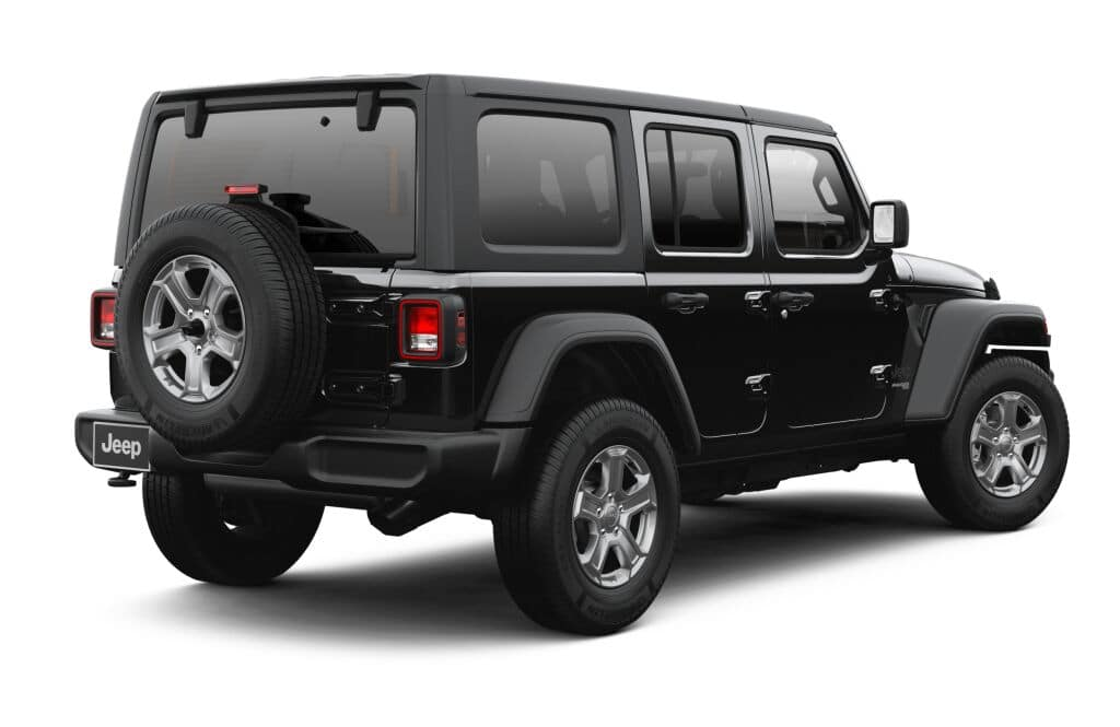 2020 Jeep Wrangler size and dimensions