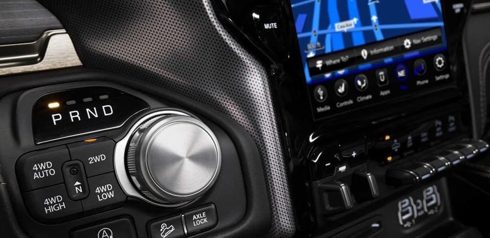 2019 Ram 1500 interior towing feature