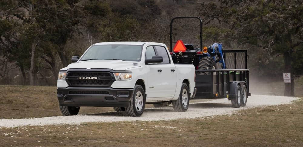 2019 Ram 1500 towing agricultural equipment