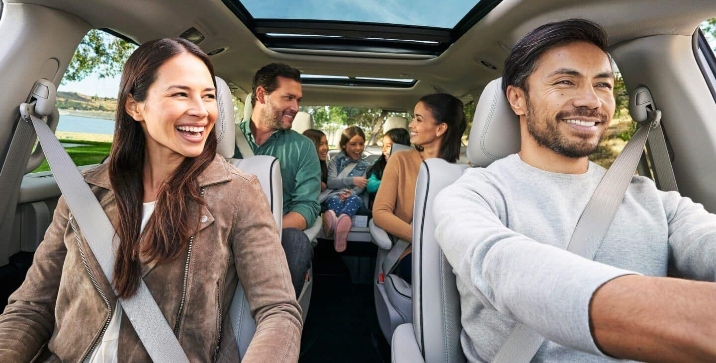 2019 Chrysler Pacifica interior with family