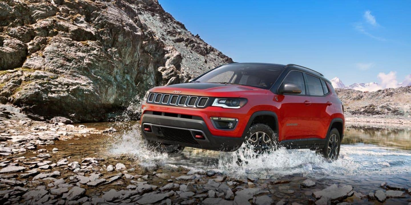 2019 Jeep Compass driving though water