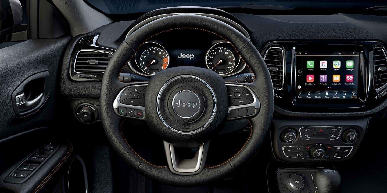 2019 Jeep Compass interior dashboard media
