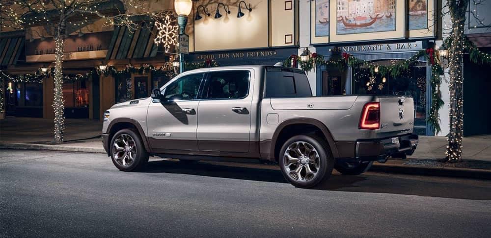 2020-Ram-1500-Laramie-Longhorn-parked-downtown