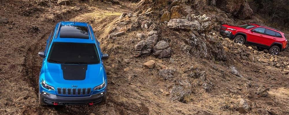 Jeep Cherokee Models On Mountain