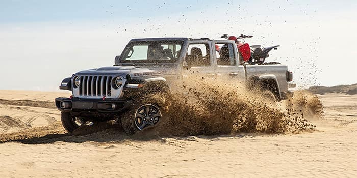 Jeep Gladiator Off-Roading with Dirt Bikes