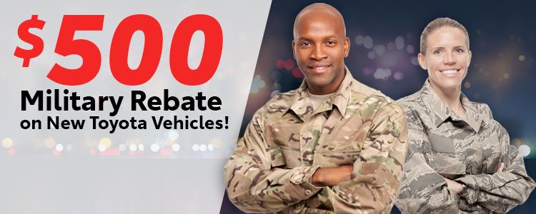 Military Rebate Cash Offer