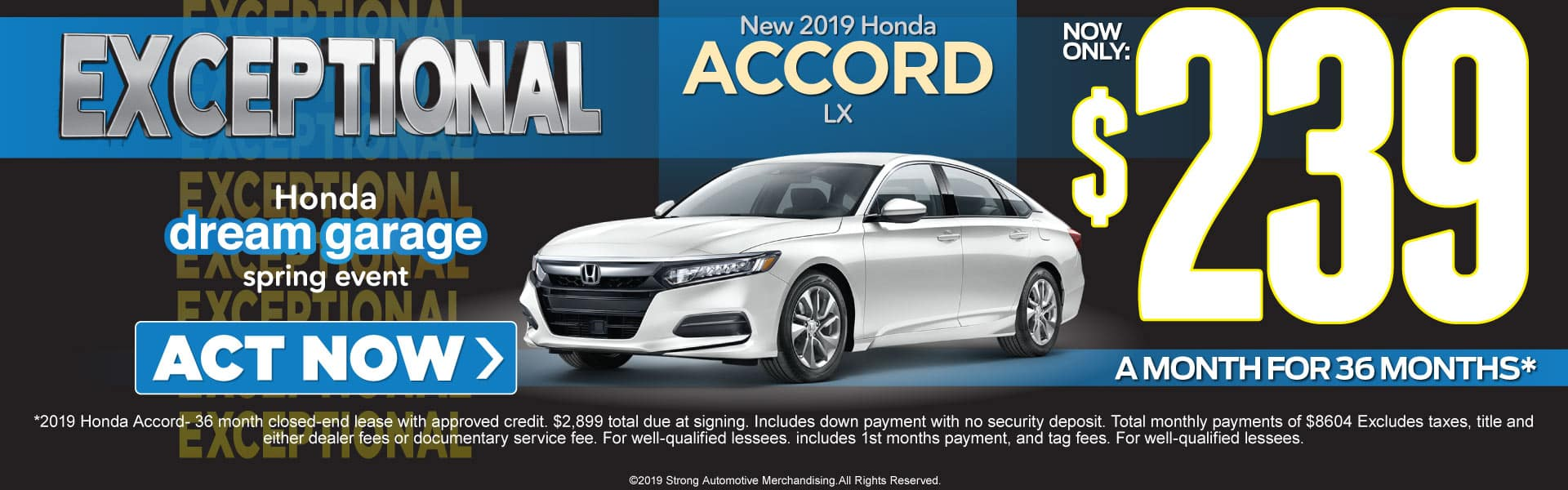 honda accord lease offer