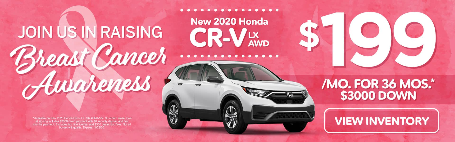 New 2020 Honda CR-V | Lease for $199 a month | Click to View Inventory