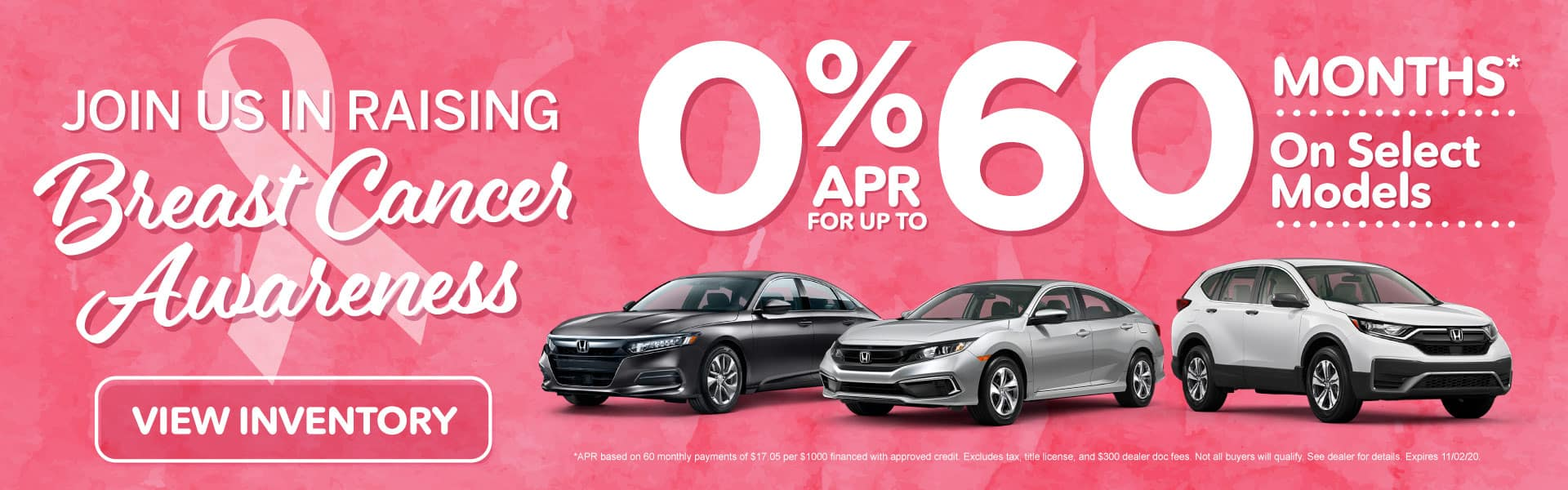 0% APR for up to 60 months on select models | Click to View Inventory