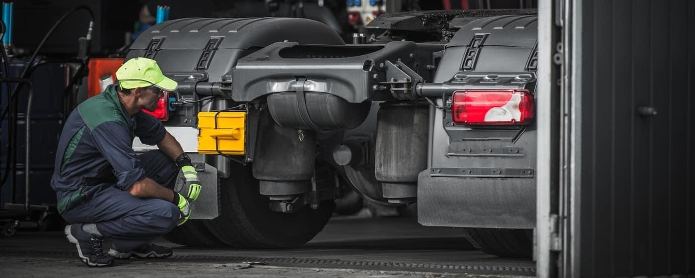 Mechanic with Semi Truck