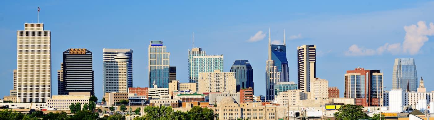 downtown nashville skyline during day