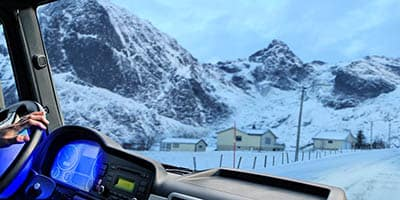 Truck Driver on Winter Roads