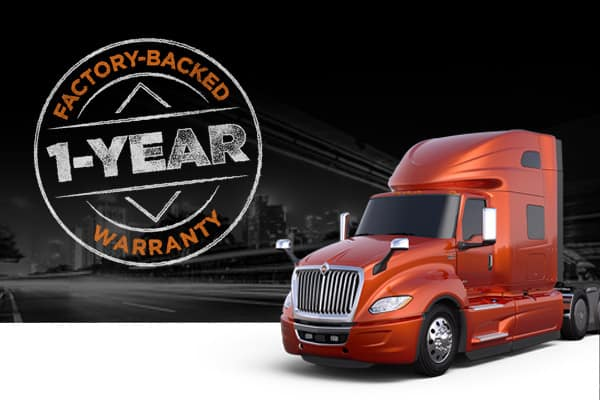 1-YEAR FACTORY-BACKED ENGINE AND AFTERTREATMENT WARRANTY