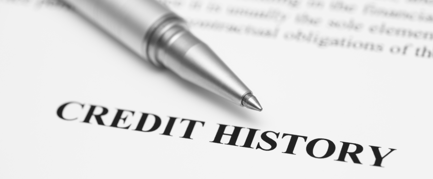 Document displaying the word credit history