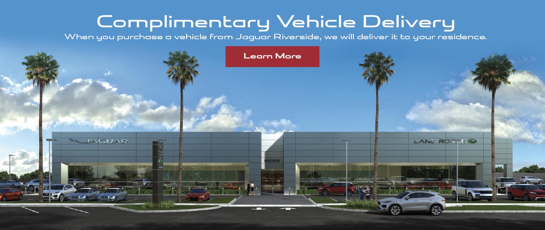 Jaguar Riverside Dealership Car Delivery