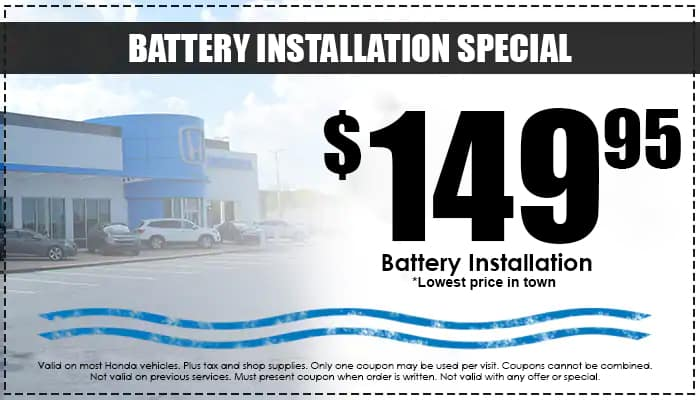Battery Installation Special