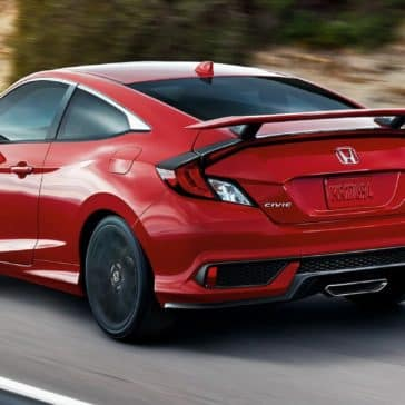 Honda_Civic_Si_Red_Driving_Country_Road_Rear_View