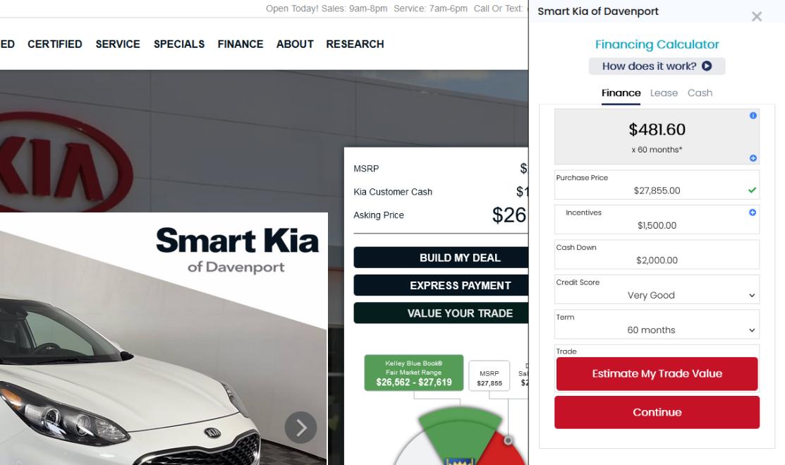 Smart Kia Pricing
