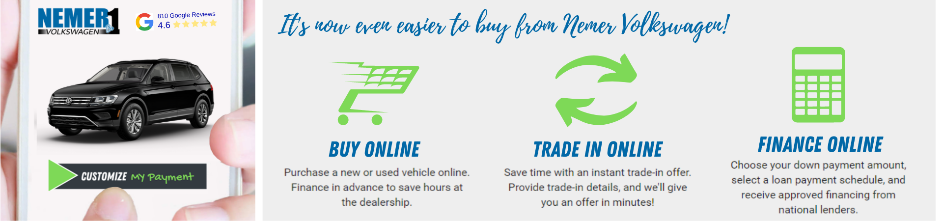 Darwin Buy Online at Nemer VW