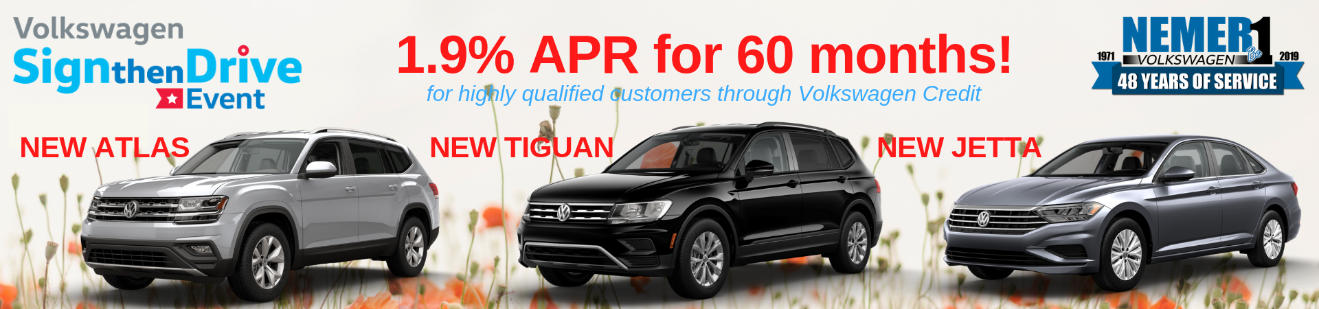 Sign Then Drive May APR Offer VW