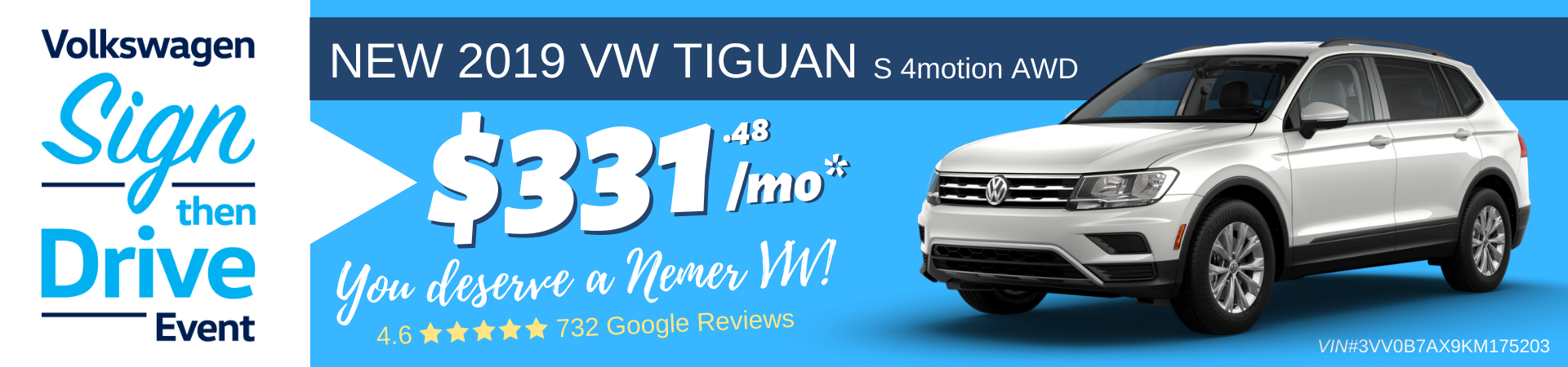 2019 Tiguan Sign Then Drive Lease