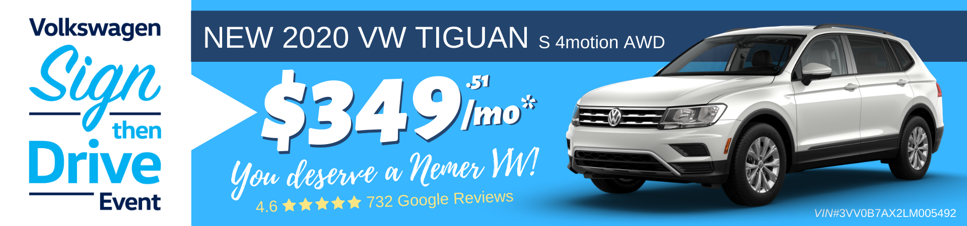 Tiguan December 2019 Sign Then Drive Lease