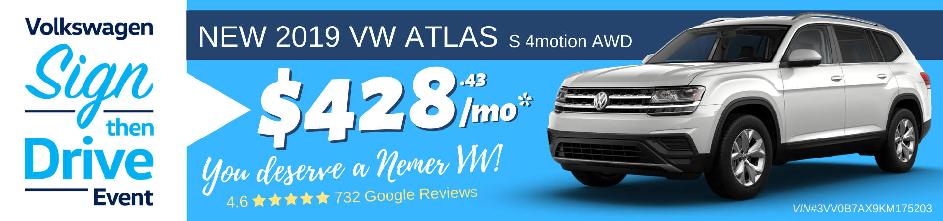 2019 Atlas Sign Then Drive Lease