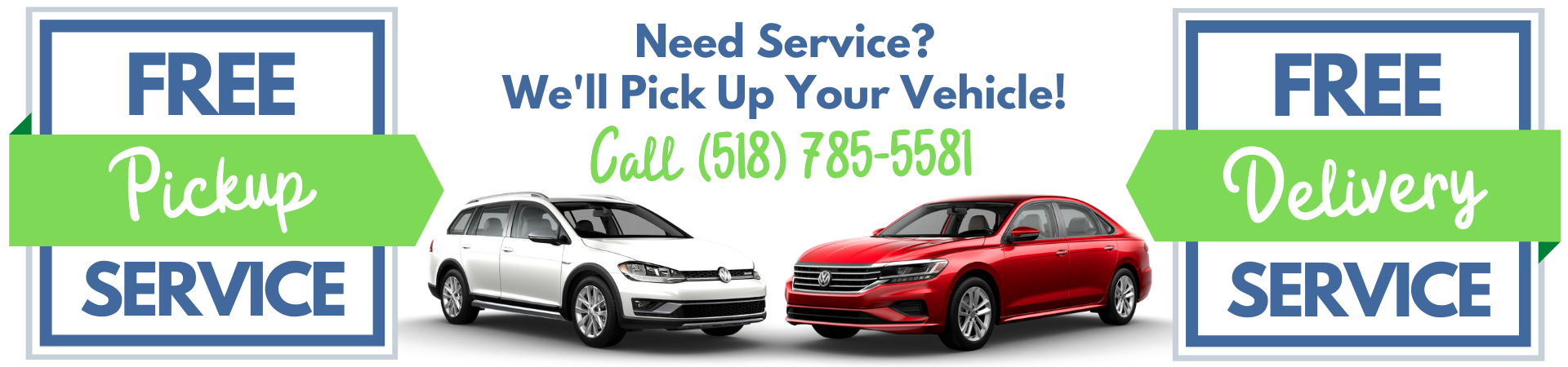 Need Service We Pick It Up VW
