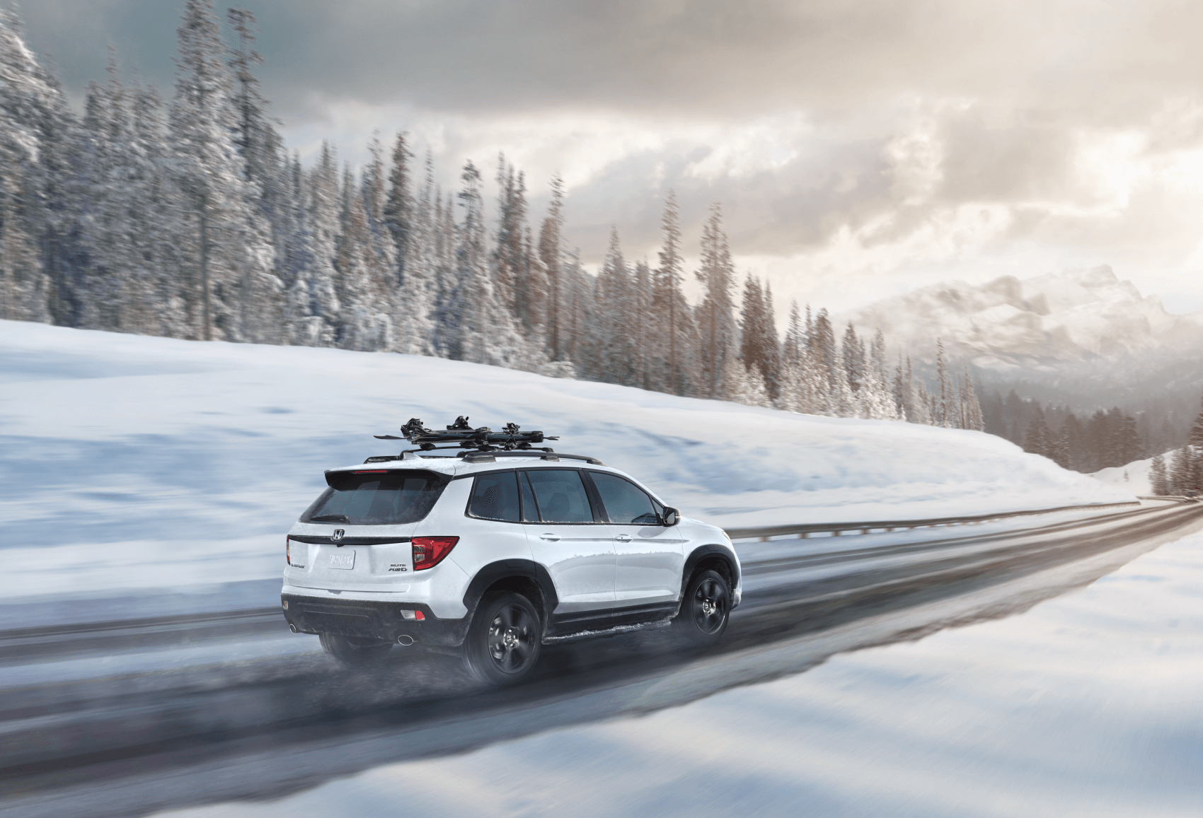 2021 Honda Passport Elite White Snow Winter Sussman Honda