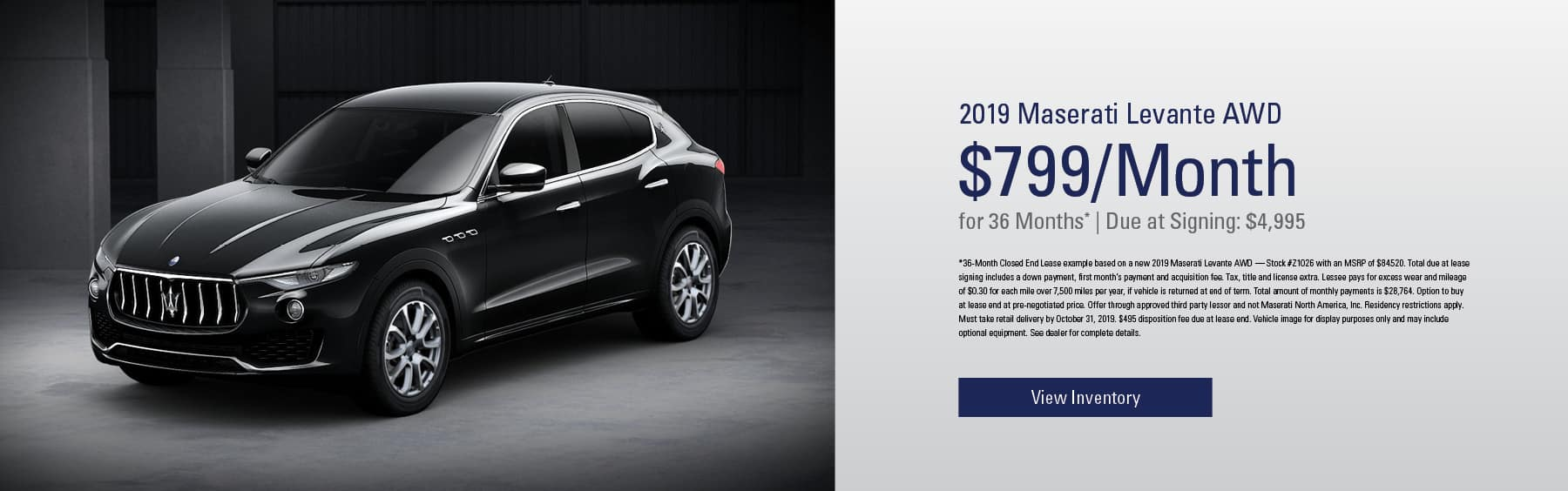2019 Maserati 799/ 36 month for mobile