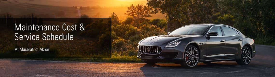 Service Menu at Maserati of Akron